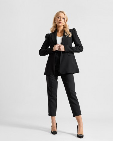 Піджак класичний з об'ємними рукавами від FASHIONISTA чорний