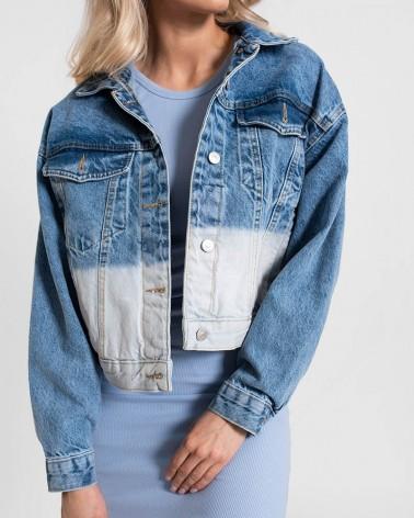 Куртка джинсова комбінована від FASHIONISTA синьо-блакитний