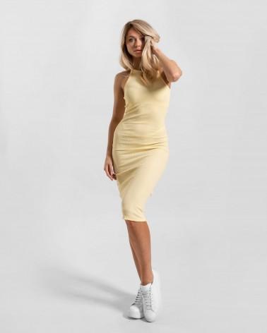 Сукня силуетна з вирізом halter від FASHIONISTA жовтий