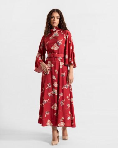 Сукня з квітковим принтом від FASHIONISTA черевоний