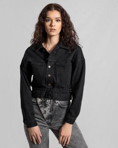 Куртка джинсова вкорочена від FASHIONISTA чорний