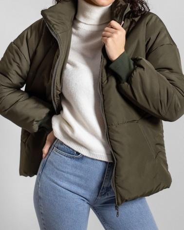 Куртка однотонна стьобана від FASHIONISTA хакі