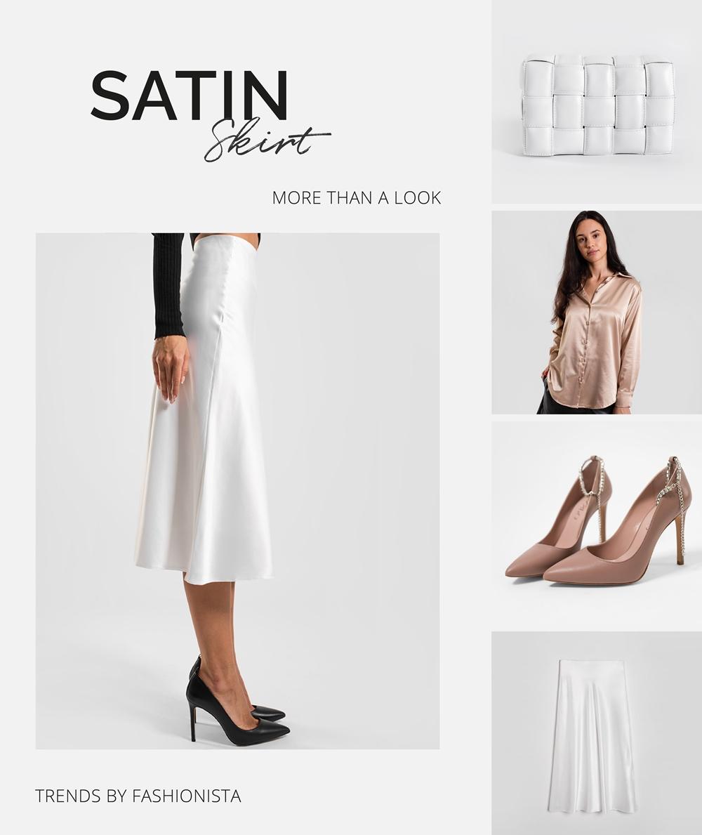 SATIN SKIRT BY FASHIONISTA