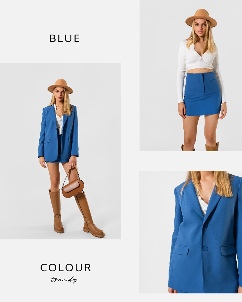 BLUE COLOR BY FASHIONISTA