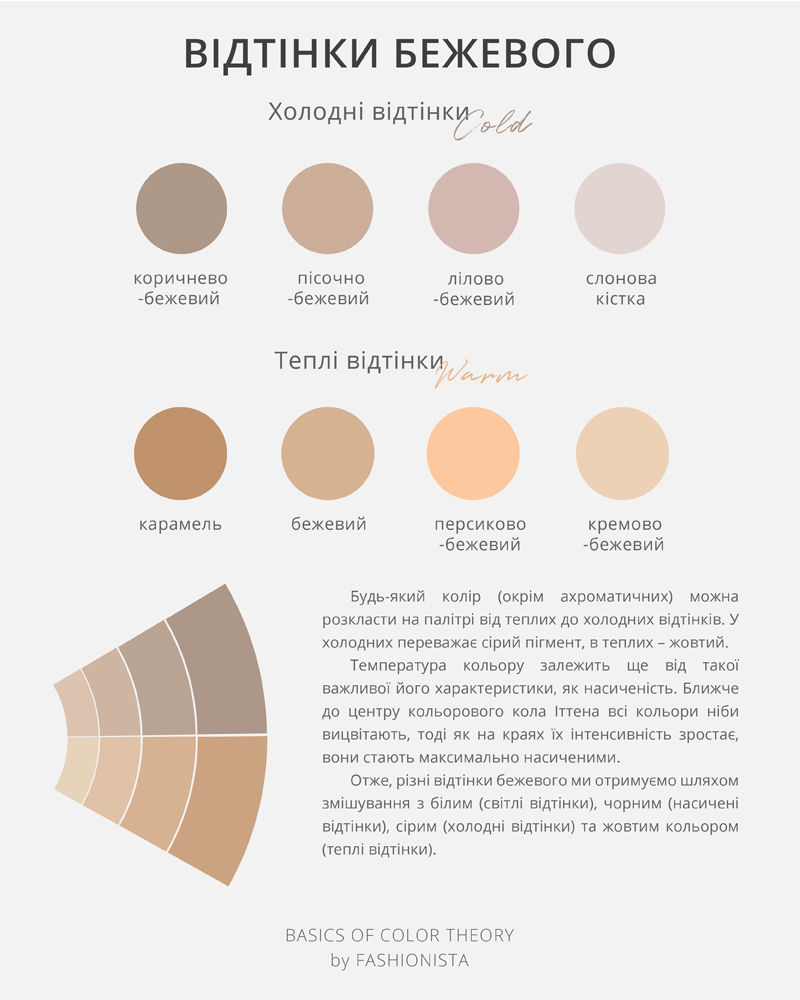 BEIGE COLOUR BY FASHIONISTA